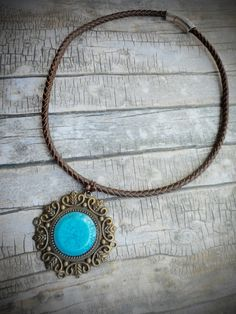 Homemade brown leather necklace ladies / by JHFWBeadsAndFindings