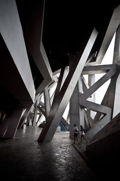 Inside the Bird's Nest - #Beijing #China #Olympic #Stadium