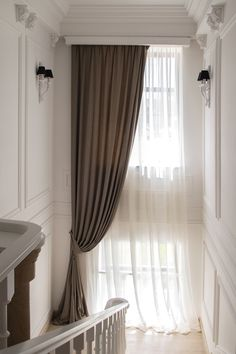 New Living Room Curtains With Blinds Ideas Ideas Home Curtains, Curtains Living, Curtains With Blinds, Window Curtains, Curtain Styles, Curtain Designs, Curtain Ideas, Tall Window Treatments, Rideaux Design