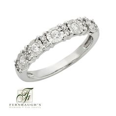 14K White Gold Diamond Ring 1/4 carat total weight (26C)