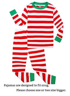 Family Feeling Little Girls Boys Matching Christmas Pajamas Sets 100%  Cotton Sleepwears Toddler Kids Pjs Size 18-24 Months Striped 5410928b2