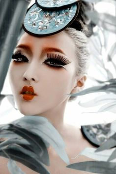 Artist #unknown #beauty #fantasy #makeup #oriental #charm #board