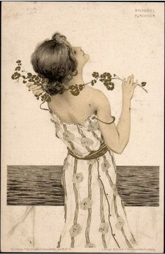 Greek Virgins by Raphael Kirchner (1900)..... illustration..{ Raphael Kirchner (1876-1917)  }			 									 									 									 									 										art nouveau 									 									 									 									 									 					...