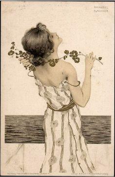 Art Nouveau Postcard ~ Circa 1901 ~ Kirchner