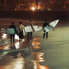 Night Surfing - Arpoador, Rio de Janeiro