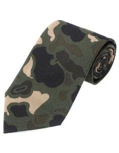 c822ffdf3088 FLATSEVEN Cravate Coton Homme Avec Camouflage Militaire (YA001) Bleu   Amazon.fr  Vêtements et accessoires