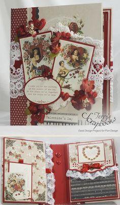 To My Valentine Pion Design Guest Designer project Scrapbook Mini Album.