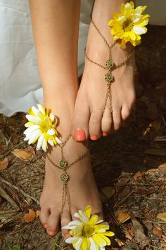 Barefoot sandals... My son is having a very simple outdoor wedding, but though this was so sweet for a beach wedding.