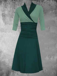 Cheap Dresses, Casual Dresses For Women, Dresses For Work, Dresser, Ladies Dress Design, Green Dress, Fashion Dresses, Long Sleeve, Sleeves