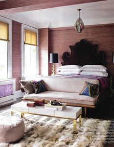 Love the rich feel of this room and LOVE this rug.