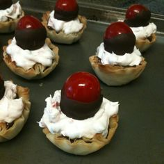 Mini Chocolate Covered Cherry Cordial Cups! Pampered Chef recipe.