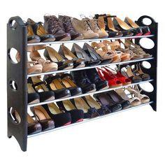 Incredible DIY Shoe Rack Rebrilliant 20 Pair Shoe Rack Finish: Red Raising Baby On The Cheap Have yo Shoe Rack For Sale, Diy Shoe Rack, Shoe Storage, Shoe Racks, Shoe Shelves, Storage Ideas, Attic Storage, Door Shoe Organizer, Closet Organization