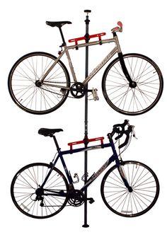 Bike storage racks, bike lifts, family bicycle racks, canoe & kayak hoists, golf bag storage, and more sports storage solutions! - MyGearUp.com - 33015 - Platinum Floor to Ceiling Storage Rack