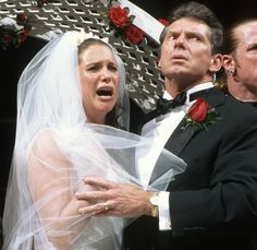 In a 2015 on screen Test & Stephanie McMahon with Vince McMahon set to get married but get interrupt by Triple H Got Married, Getting Married, Attitude Era, Jerry The King Lawler, Kevin Nash, Trish Stratus, Mickie James, Screen Test