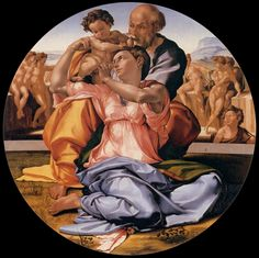 Michelangelo, 1506  The Holy Family (tondo Doni)  Florence. Hebe Garibay.