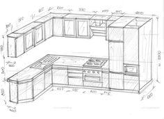 Kitchen corner with pencil case. Kitchen Cupboard Designs, Kitchen Room Design, Best Kitchen Designs, Kitchen Corner, Home Room Design, Modern Kitchen Design, Kitchen Interior, Kitchen Cabinets Drawing, Kitchen Drawing