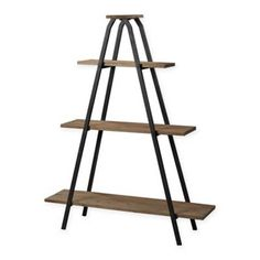 Buy the Sterling Industries Restoration Black / Natural Wood Direct. Shop for the Sterling Industries Restoration Black / Natural Wood Height Wooden A-Line Shelf and save. Wood And Metal Shelves, Wooden Shelves, Wood Shelf, Book Shelves, Ladder Shelves, Shelving Units, Storage Shelves, Wooden Ladders, Metal Shelving