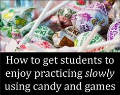 Orchestra Classroom Ideas: Slow Motion Week - Using Dums Dums and other Fun
