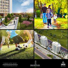 Yeşilin en güzel tonlarının hakim olduğu bahçeleri ve özel peyzaj alanları ile Onur Park Life İstanbul'da doğayla iç içe olmanın keyfini yaşayacaksınız.