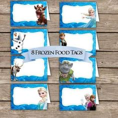 frozen party food labels free printable - Google Search
