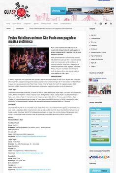 Festas Natalinas animam São Paulo com pagode e música eletrônica