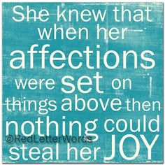 She Knew... Affections quote