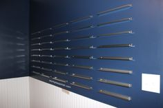The Mani Cave Polish Storage using IKEA STRECKET cabinet pulls (work / play / polish)