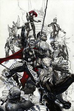 Avengers #24 variant cover by simonebianchi on deviantART