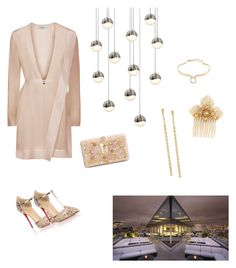 """""""Evening Out"""" by girlie87 ❤ liked on Polyvore featuring Sonneman, Christian Louboutin, Dolce&Gabbana, Alexis Bittar, Miriam Haskell and Lana Jewelry"""