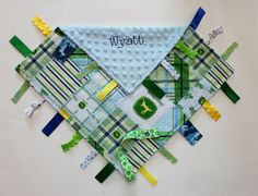 PERSONALIZED Ribbon Tag Blankie with Pacifier by firstcrushdesigns, $19.00