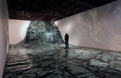 "Baptiste Debombourg Paris based artistcreated an interesting installation – a ""wave"" made of broken windshields."