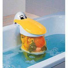 Babysun Nursery – Bolsa de malla para juguetes de baño, diseño de pelícano