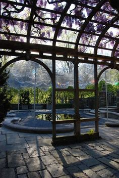 """The beautiful art piece, """"Cloud Terrace"""", is at Dumbarton Oaks, in Georgetown, Washington DC, by landscape artists Andy Cao and Xavier Perrot in collaboration with J.P. Paull of Bodega Architecture.  From Alice's Blog at: mymodernmet.com"""
