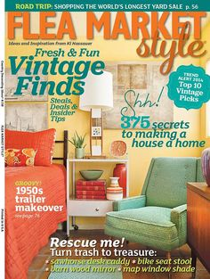 2014 SPRING Flea Market Style Magazine Book by VintageABCs on Etsy, $9.95