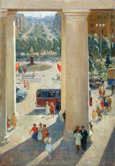 Безукладников Герман Александрович (1928-2009) «Щелково. Праздничный день» 1963