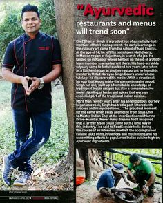 Check out this month's Food Service Magazine coverage on ayurveda.... #ayurveda #foodservice #magazine #india #vedicchefbhairavsingh #chefs #vedicchef #edition #srisri #healthy #food #babaramdev #march #2017 #health #foodie #cheflife🔪 #table #mumbai❤ #instagoods #foodlove #business #patanjali #instagram #good #patalkot