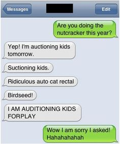 Super duper Auto Correct Fail. I really dont' know why these make me laugh like they do  but i laugh every time!!