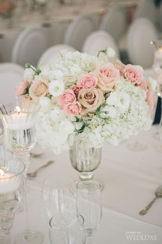 Pretty-in-Pink Garden Wedding   We LOVE the romantic mix of modern and vintage details!   Photography by: Mimmo & Co