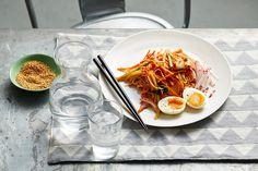Korean spicy noodle salad