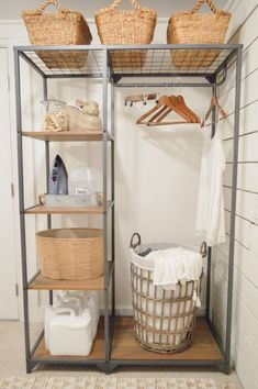 Simple Ideas To Organize A Laundry Room - easy affordable organizing ideas that are both pretty and practical - How I organized my basement basement laundry room #laundryroom #organizedlaundryroom #laudryroomideas Best Closet Organization, Laundry Room Organization, Small Laundry Rooms, Laundry Room Design, Basement Laundry Rooms, Organized Basement, Laudry Room Ideas, Laundry Room Inspiration, Laundry Room Remodel
