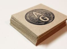 stamped business cards. simple, clean, killer.