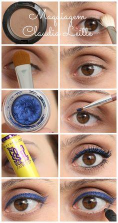 Maquiagem inspirada na cantora Claudia Leitte. Tutorial completo no link
