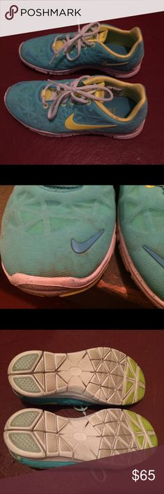 Nike Free 5.0 Only worn a few times but worn outside, hence some light staining on shoes (shown in pix). Not noticeable when worn. Nike Shoes Athletic Shoes