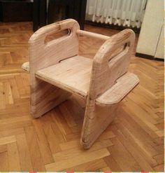 Chestnut Wooden Baby Chair
