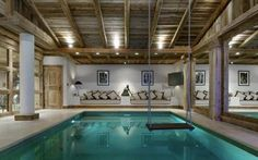 Awesome indoor pool- the swing is the best!! Although wouldn't that splash water everywhere??