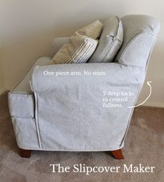 Slipcover Design: How to Handle Outer Arm Seams – The Slipcover Maker Furniture Fix, Reupholster Furniture, Furniture Slipcovers, Slipcovers For Chairs, Furniture Covers, Chair Covers, Furniture Design, Oversized Chair Slipcover, Armchair Slipcover