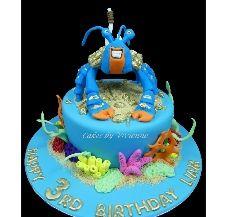 Tamatoa Crab Moana Birthday Cake