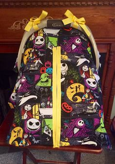 Handmade Nightmare Before Christmas Baby Car Seat by DonnasThreads