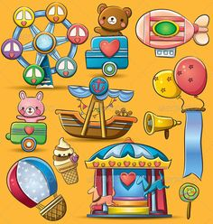 Carnival Theme Park #GraphicRiver cartoon illustration of fun carnival theme park Created: 14May12 GraphicsFilesIncluded: VectorEPS Layered: Yes MinimumAdobeCSVersion: CS Tags: adorable #airballoon #airship #balloons #banner #bear #candy #carnival #carousel #cart #cartoon #cheerful #cute #enjoy #ferriswheel #festival #food #happy #icecream #illustration #lollipop #megaphone #play #playground #ribbon #ship #sweet #themepark #toys #vector