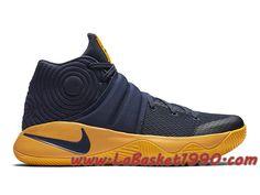 info for 0abb7 b8c97 Nike Kyrie 2 Cavs 819583-447 Chaussures Nike Basket Pas Cher Pour Homme Noir  Jaune